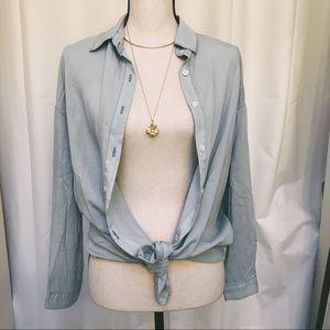 NWT Oversized Denim Look Shirt - 6